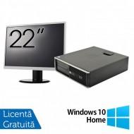 Pachet Calculator HP 6300 SFF, Intel Core i3-2120 3.30GHz, 8GB DDR3, 250GB SATA, Radeon HD7470 1GB DDR3, 1 Port Serial + Monitor 22 Inch + Windows 10 Home