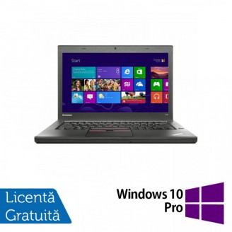 Laptop LENOVO ThinkPad T450, Intel Core i5-5300U 2.30GHz, 8GB DDR3, 500GB SATA, 14 Inch + Windows 10 Pro