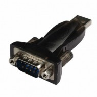 Adaptor USB-A - SERIAL RS232 T/T, LOGILINK AU0002E - Black, Nou