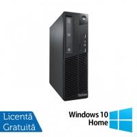 Calculator Lenovo Thinkcentre M73 SFF, Intel Pentium G3220 3.00GHz, 4GB DDR3, 500GB SATA + Windows 10 Home