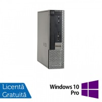 Calculator Dell OptiPlex 9020 USFF, Intel Core i3-4130 3.40GHz, 8GB DDR3, 120GB SSD, DVD-ROM + Windows 10 Pro
