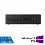 Calculator HP Prodesk 600 G1 SFF, Intel Core i3-4130 3.40GHz, 4GB DDR3, 500GB SATA, DVD-RW + Windows 10 Pro