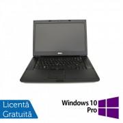 Laptop DELL Latitude E6510, Intel Core i7-640M 2.80GHz, 4GB DDR3, 320GB SATA, DVD-RW, 15.6 Inch, Fara Webcam + Windows 10 Pro