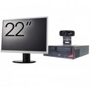 Pachet Calculator Fujitsu E410, Intel Core i3-3220 3.30GHz, 4GB DDR3, 500GB SATA + Monitor 22Inch + Webcam + Tastatura si Mouse