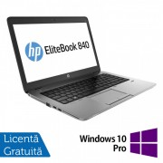 Laptop HP Elitebook 840 G2, Intel Core i7-5500U 2.40GHz, 8GB DDR3, 120GB SSD, 14 Inch + Windows 10 Pro