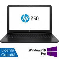 Laptop HP 250 G4, Intel Core i3-4005U 1.70GHz, 4GB DDR3, 1TB SATA, DVD-RW, 15.6 Inch, Tastatura Numerica, Webcam + Windows 10 Pro