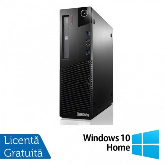 Calculator Lenovo Thinkcentre M93p SFF, Intel Core i3-4130 3.40GHz, 4GB DDR3, 250GB SATA, DVD-RW + Windows 10 Home