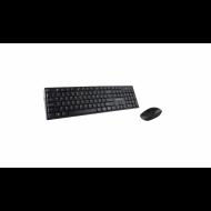 Kit tastatura + Mouse Serioux NK9800WR, Wireless 2.4GHz, US layout, Multimedia, Mouse optic 1200dpi, Negru, USB, Nano receiver