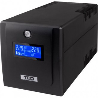 UPS 1600VA / 900W LCD, Cu stabilizator, 4 iesiri schuko, TED Electric