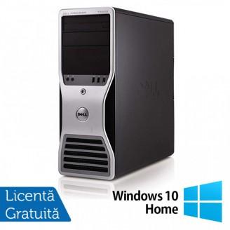 Workstation Dell T5500, Intel Xeon Quad Core E5630 2.53GHz-2.80GHz, 24GB DDR3, 2TB SATA, Placa video Gaming AMD Radeon R7 350 4GB GDDR5 128-Bit + Windows 10 Home