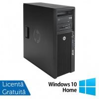 Workstation HP Z420, CPU Intel Xeon E5-1603 2.80GHz Quad Core, 16GB DDR3 ECC, 240GB SDD,  nVidia Quadro K2000/2GB GDDR5, DVD-RW + Windows 10 Home